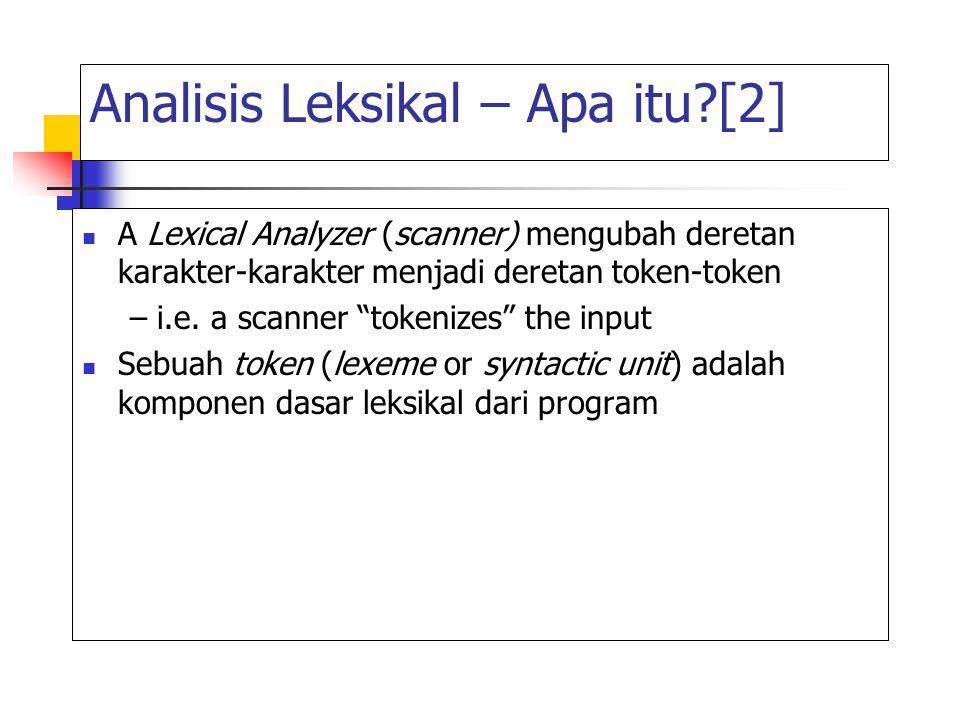 Analisis Leksikal – Apa itu [2]